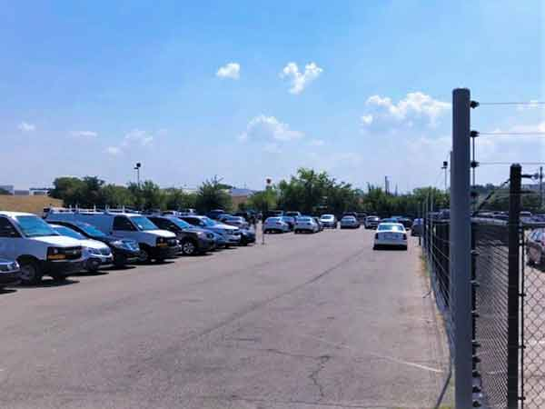 Auto Rental Lot Security Fence