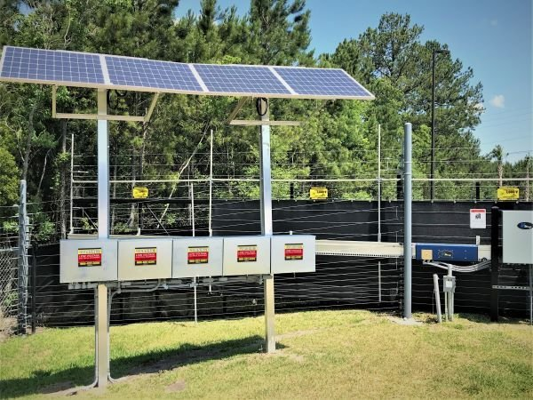 Collision Center Solar Powered Security Fence and Gate