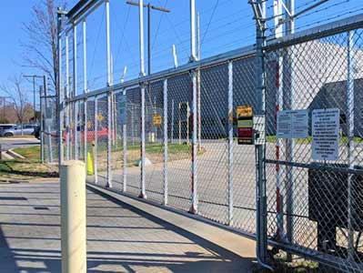 Large Gate Electric Fence Security