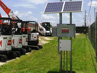 Rental Diggers Solar Panel Fence