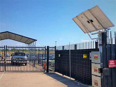 Covered Gate Access and Solar Powered Security