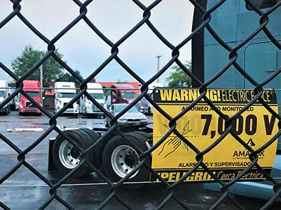 Truck Sales Warning Electric Fence